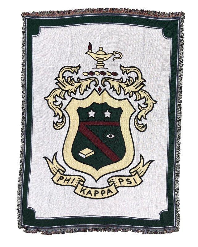 Phi Kappa Psi Afghan Blanket Throw