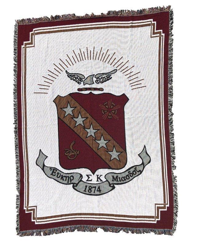 Sigma Kappa Afghan Blanket Throw