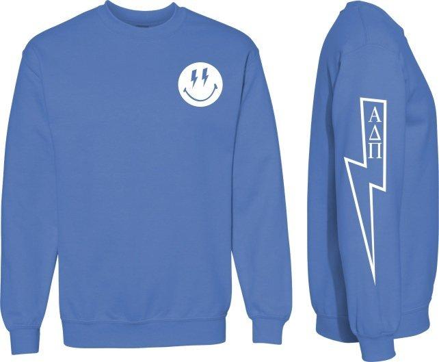 Alpha Delta Pi Comfort Colors Lightning Crew Sweatshirt