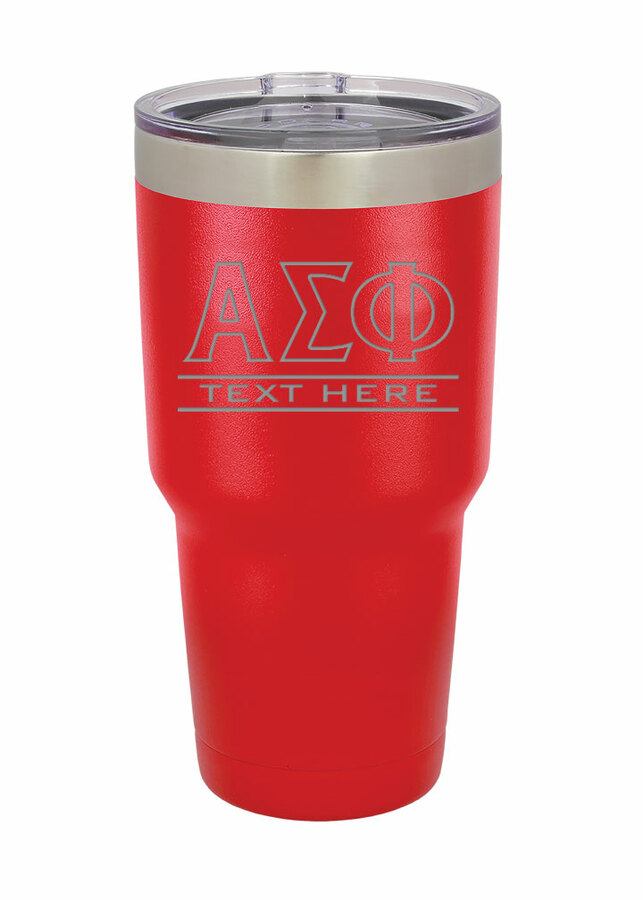 Fraternity & Sorority Vacuum Insulated Tumbler w/Clear Lid