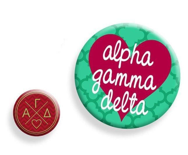 Alpha Gamma Delta Button Set