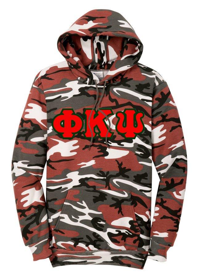 DISCOUNT-Phi Kappa Psi Camo Pullover Hooded Sweatshirt