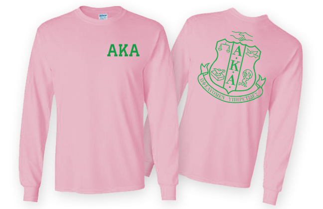 AKA World Famous Crest - Shield Long Sleeve T-Shirt - $19.95! - MADE FAST!