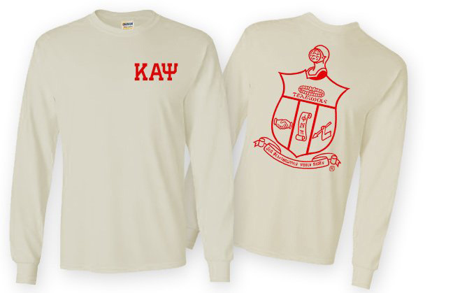 Kappa Alpha Psi World Famous Crest - Shield Long Sleeve T-Shirt- $19.95!