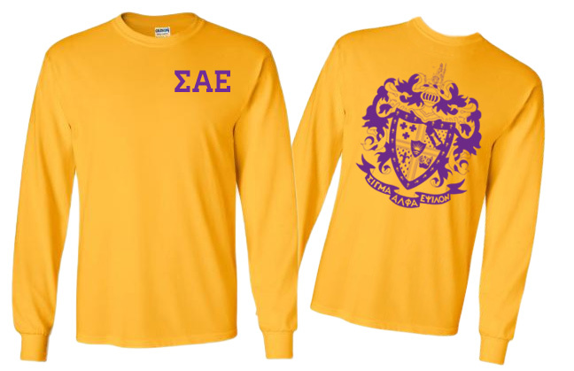 SAE World Famous Crest Long Sleeve T-Shirt - $19.95! - MADE FAST!