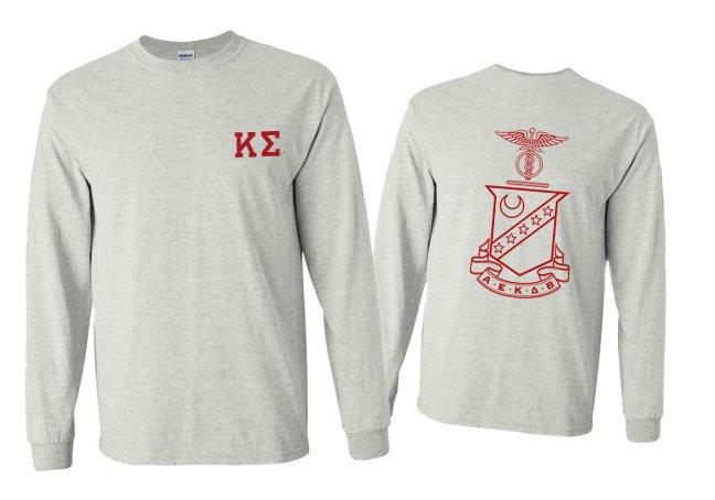 Kappa Sigma World Famous Crest - Shield Long Sleeve T-Shirt- $19.95!