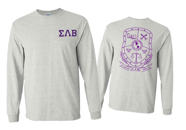 Sigma Lambda Beta World Famous Crest - Shield Long Sleeve T-Shirt- $19.95!