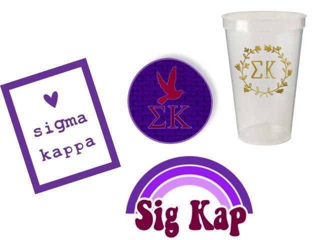 Sigma Kappa Sorority Large Pack $15.00