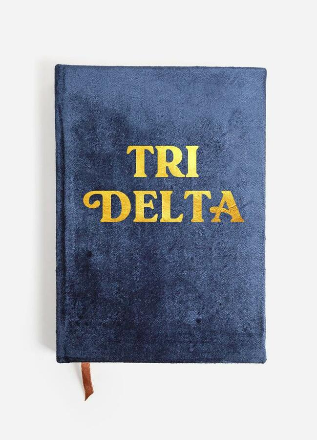 Delta Delta Delta Velvet Notebook