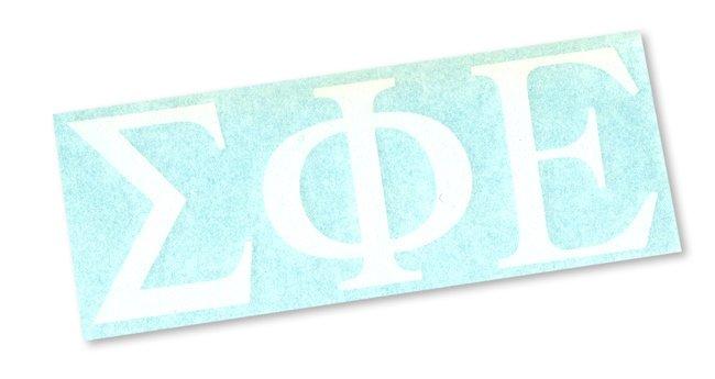 """2"""" Greek Letter Window Sticker Decal"""