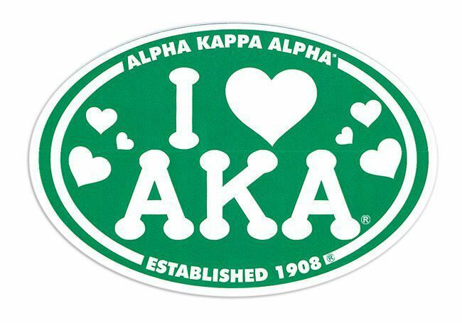 Alpha Kappa Alpha I Love Sorority Sticker - Oval