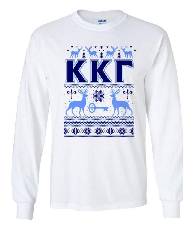 Fraternity & Sorority Ugly Christmas Sweater Long Sleeve T-Shirt