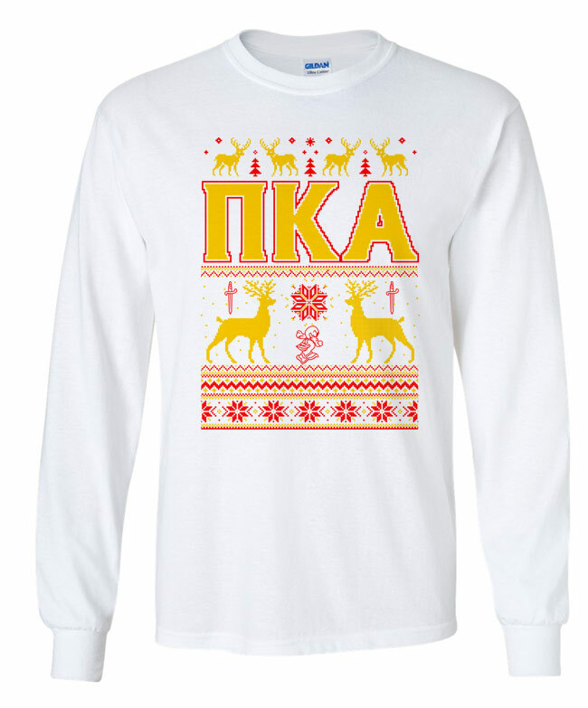 Pi Kappa Alpha Ugly Christmas Sweater Long Sleeve T-Shirt