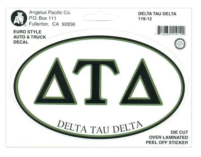 Delta Tau Delta Euro Decal Oval Sticker