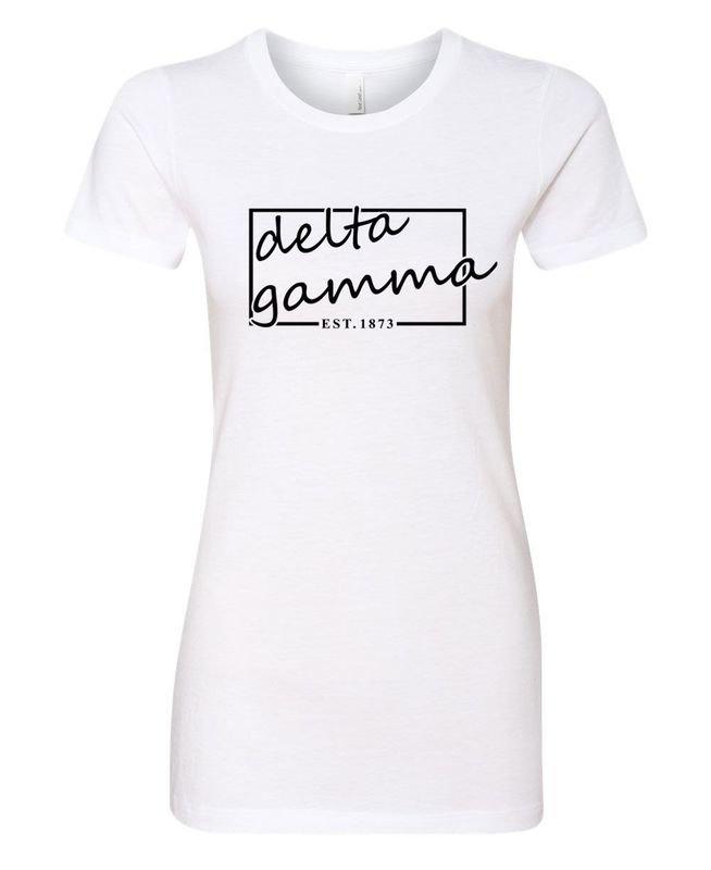 Delta Gamma Triblend Short Sleeve Box T-Shirt