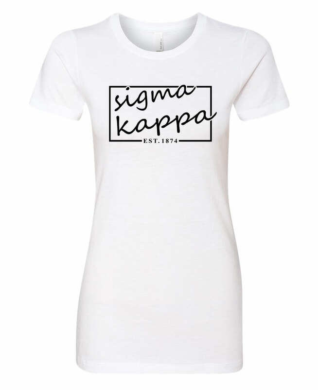Sigma Kappa Triblend Short Sleeve Box T-Shirt