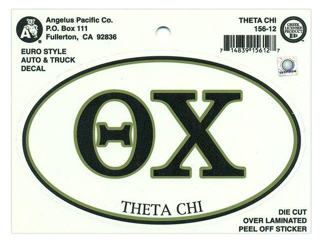 Theta Chi Euro Decal Oval Sticker