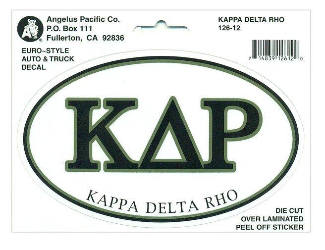 Kappa Delta Rho Euro Decal Oval Sticker
