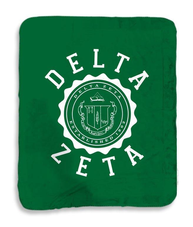 Delta Zeta Seal Sherpa Lap Blanket