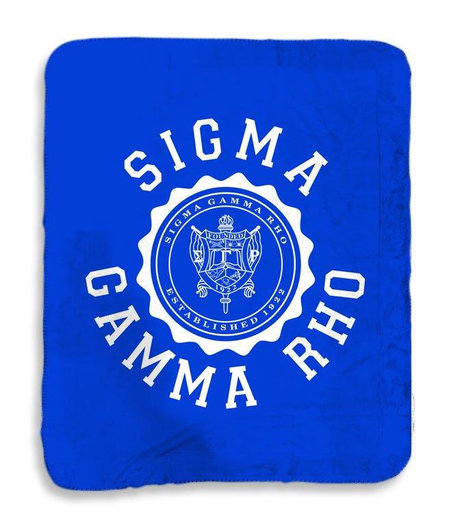 Sigma Gamma Rho Seal Sherpa Lap Blanket