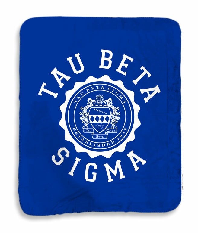 Tau Beta Sigma Seal Sherpa Lap Blanket