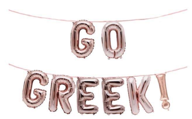 Custom Greek Balloon Banner Set