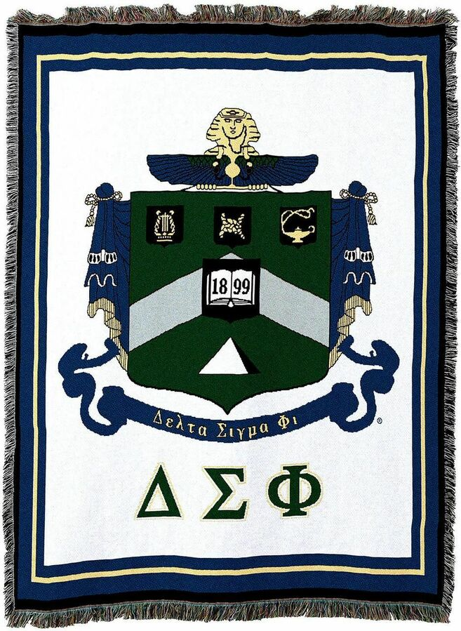 Delta Sigma Phi Afghan Blanket Throw