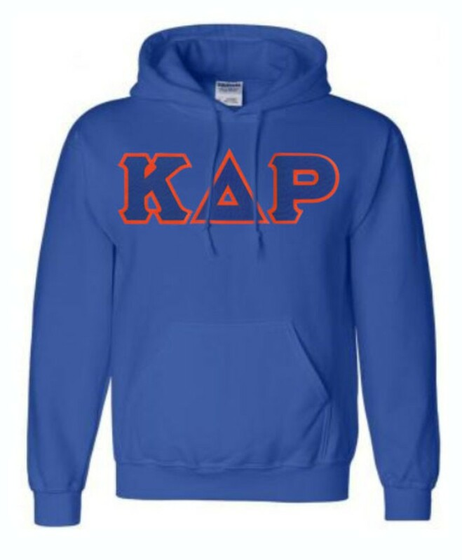 DISCOUNT Kappa Delta Rho Lettered Hooded Sweatshirt