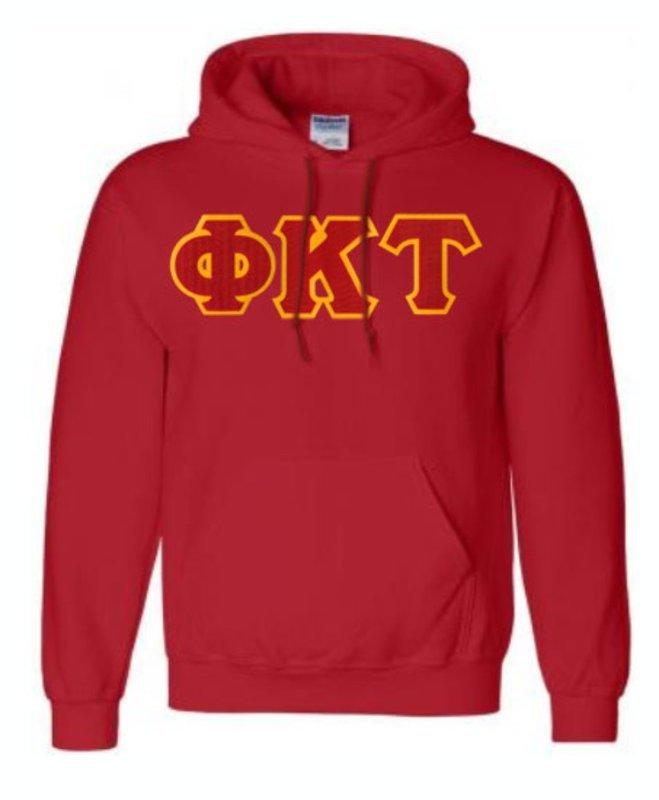 DISCOUNT Phi Kappa Tau Lettered Hooded Sweatshirt