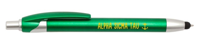 Alpha Sigma Tau Retractable Stylus Pen