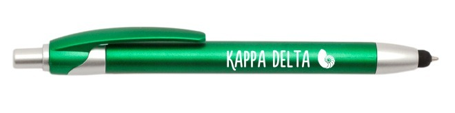 Sorority Retractable Stylus Pen