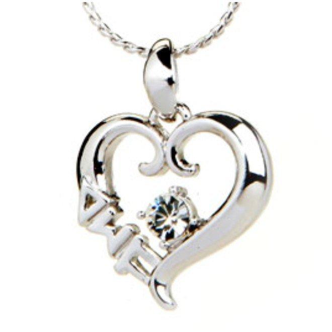 Sorority Sterling silver heart pendant