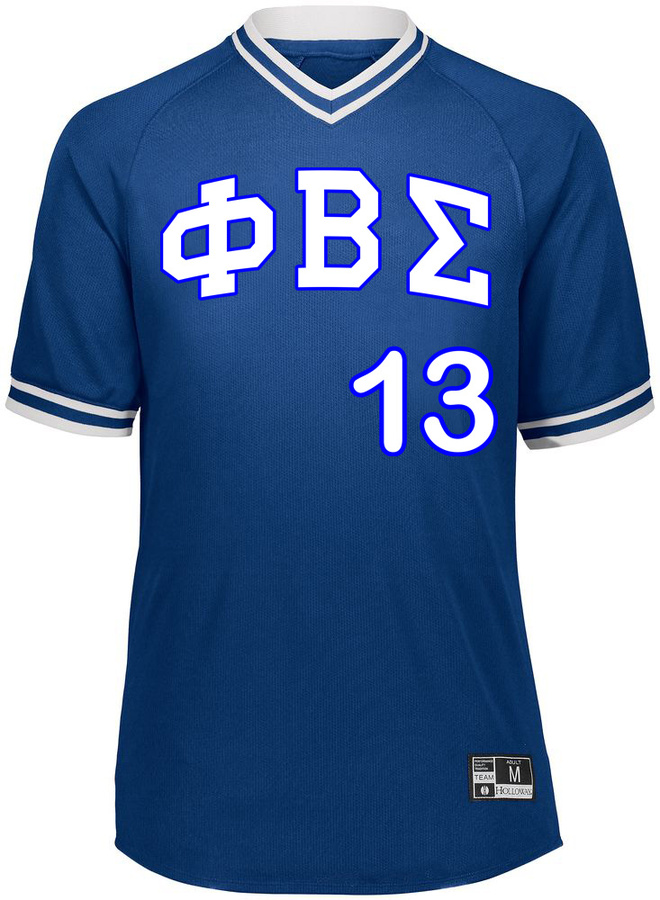 Phi Beta Sigma Retro V-Neck Baseball Jersey