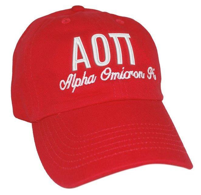 Alpha Omicron Pi Script Cap