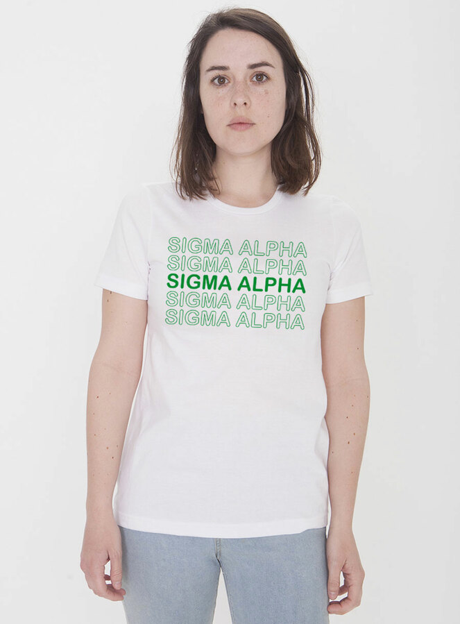 Sigma Alpha Thank You For Shopping Tee - Comfort Colors