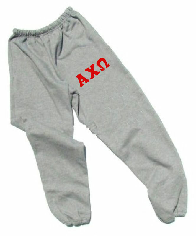Alpha Chi Omega Lettered Thigh Sweatpants