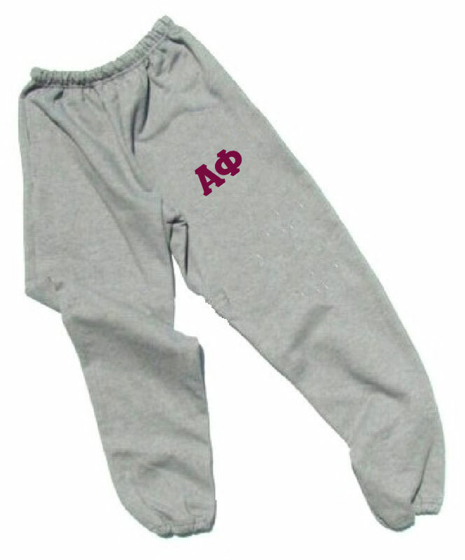 Alpha Phi Lettered Thigh Sweatpants
