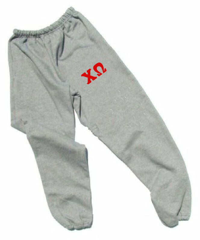 Chi Omega Lettered Thigh Sweatpants