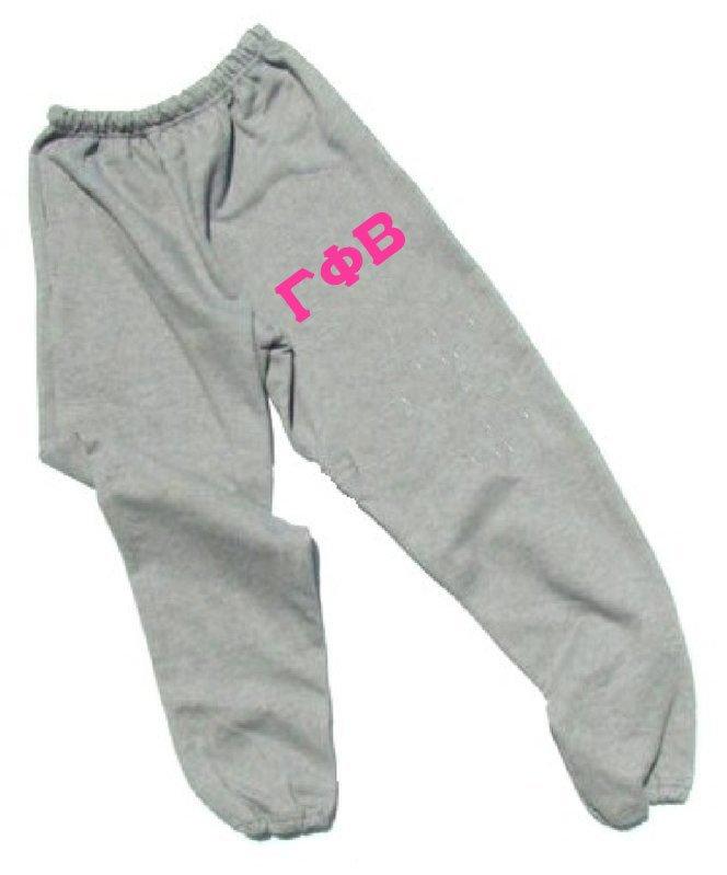 Gamma Phi Beta Lettered Thigh Sweatpants