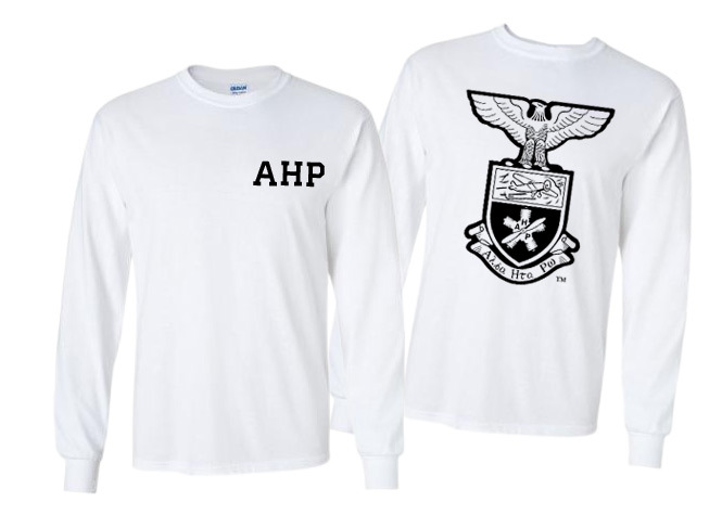 Alpha Eta Rho World Famous Crest - Shield Long Sleeve T-Shirt- $19.95!