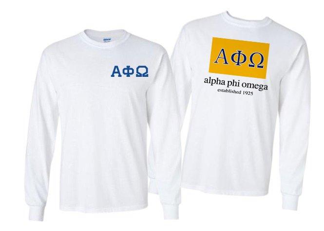 Alpha Phi Omega Flag Long Sleeve T-shirt