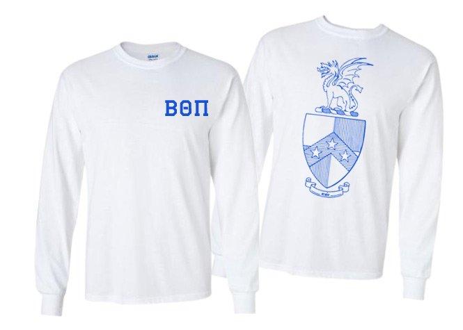 Beta Theta Pi World Famous Crest - Shield Long Sleeve T-Shirt- $19.95!