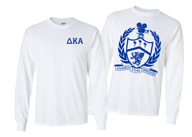 Delta Kappa Alpha World Famous Crest - Shield Long Sleeve T-Shirt- $19.95!
