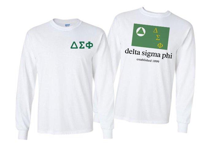 Delta Sigma Phi Flag Long Sleeve T-shirt