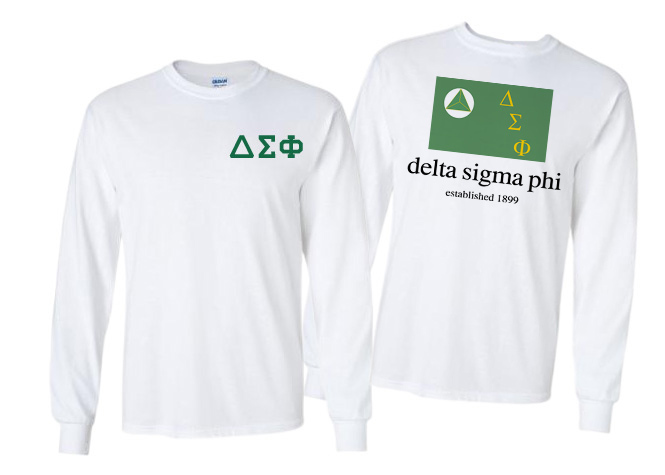 Delta Sigma Phi Flag Long Sleeve T-shirt