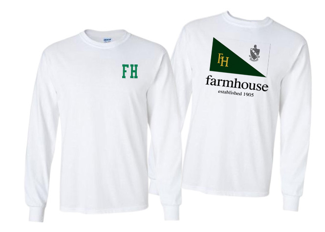 FarmHouse Fraternity Flag Long Sleeve T-shirt