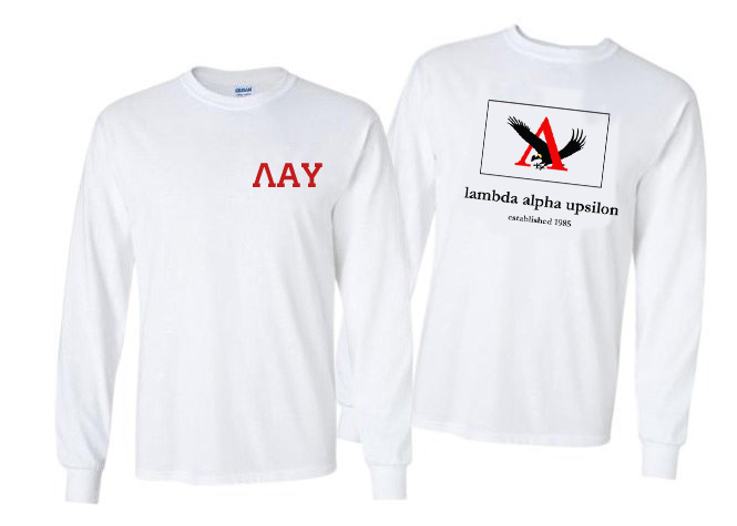 Lambda Alpha Upsilon Flag Long Sleeve T-shirt - Comfort Colors