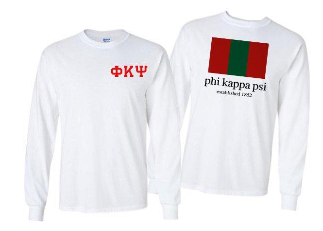 Phi Kappa Psi Flag Long Sleeve T-shirt