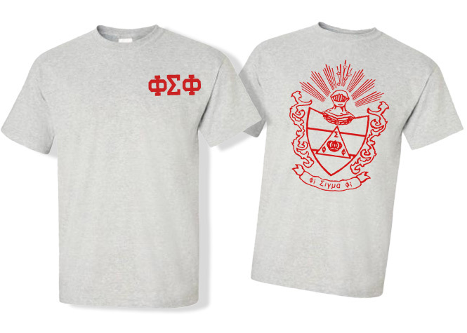 Phi Sigma Phi World Famous Crest - Shield Tees