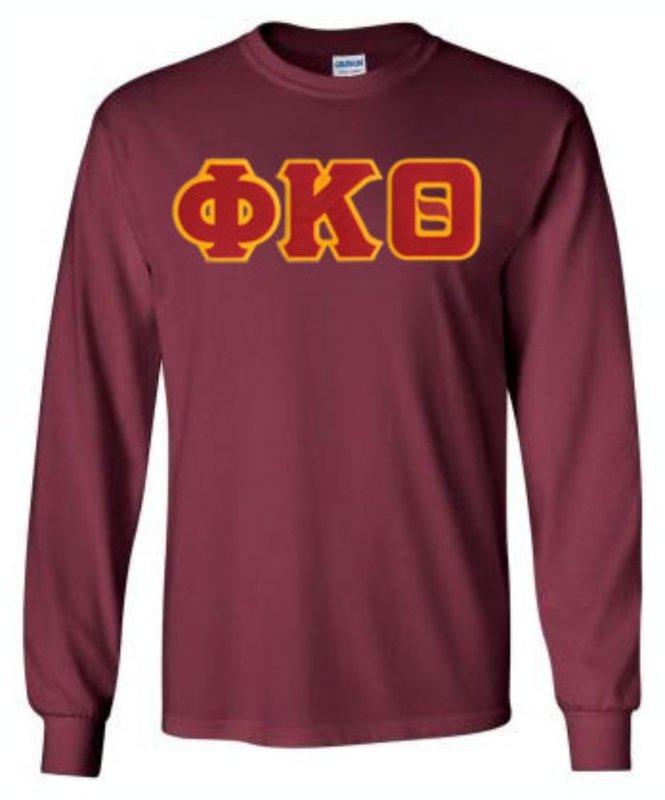 DISCOUNT Phi Kappa Theta Lettered Long sleeve